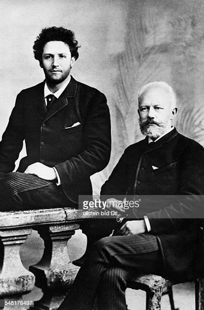 Tchaikovsky Pyotr Composer Russia *0705184006111893 with cellist Anatoli Brandukov 1888