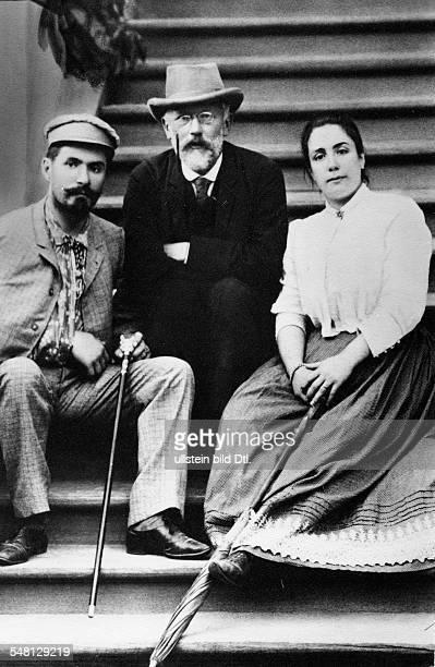 Tchaikovsky Pyotr Composer Russia *0705184006111893 with opera singers Medea Figner and Nicolai Figner 1889