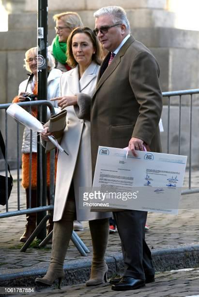 Te Deum à l'occasion de la Fête du Roi en présence du roi Albert de la princesse Astrid du prince Lorenz du prince Laurent et de la princesse Claire...