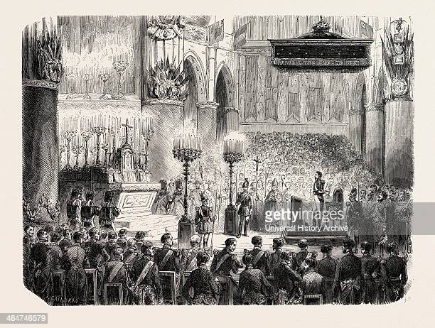 Te Deum Sung In The Church Of The Notredame In Thanksgiving For The Capture Of Sevastopol 1855 Paris France Engraving