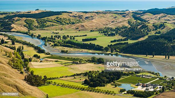 te mata ranges. - hastings stock photos and pictures