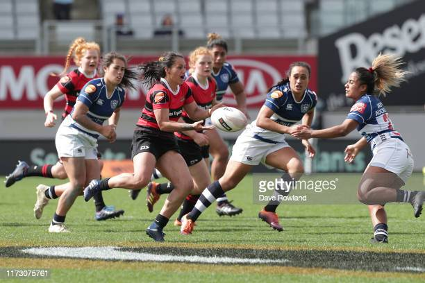 Te Rauoriwa Gapper of Canterbury during the Farah Palmer Cup Rd 2 Auckland v Canterbury at Eden Park on September 08 2019 in Auckland New Zealand