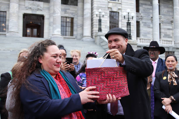 NZL: Petitions In Support Of Māori Wards Presented In Wellington