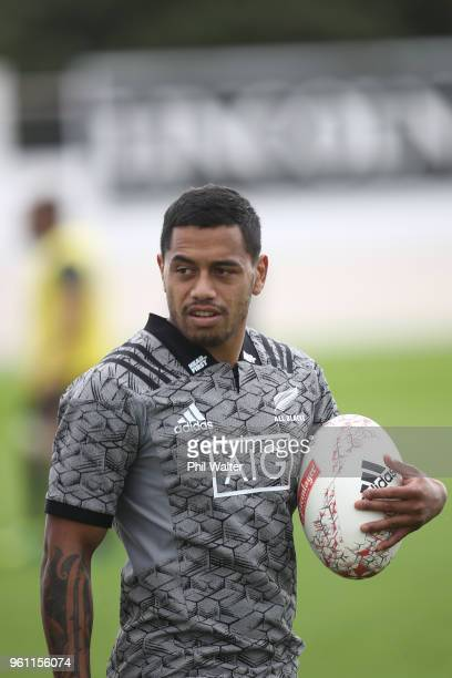 Te Toiroa Tahuriorangi of the All Blacks during a New Zealand All Blacks training session at Auckland Blues HQ on May 22 2018 in Auckland New Zealand