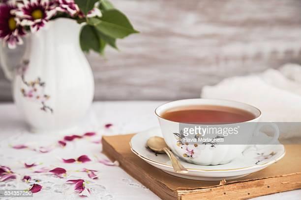 Tea and book