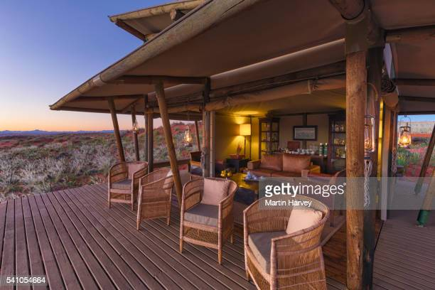 Tea and coffee area of Dunes Lodge, Wolwedans NamibRand Nature Reserve, Namibia