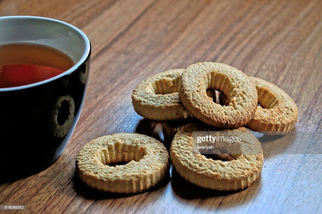 Tea and Cookies : Stock Photo