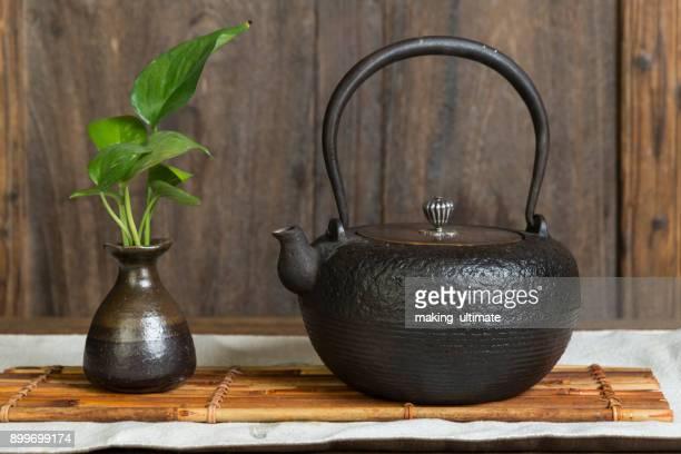 tea and iron kettle