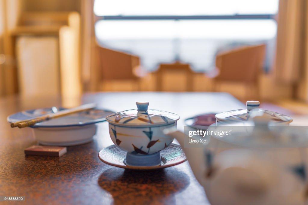 Tea and pot : Stock Photo
