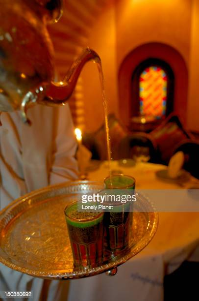 Tea being poured, Tagine Moroccan restaurant.