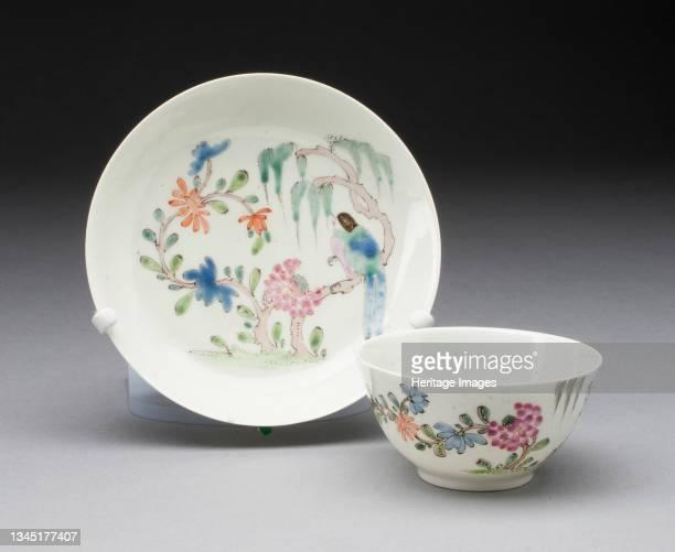 Tea Bowl and Saucer, Worcester, 1750/60. Artist Royal Worcester.