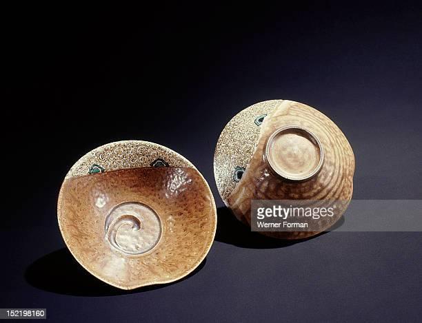 Tea ceremony bowls Japan Japanese Middle Edo