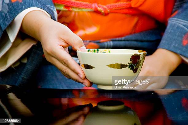 Tea Ceremony, Hand Holding Cup