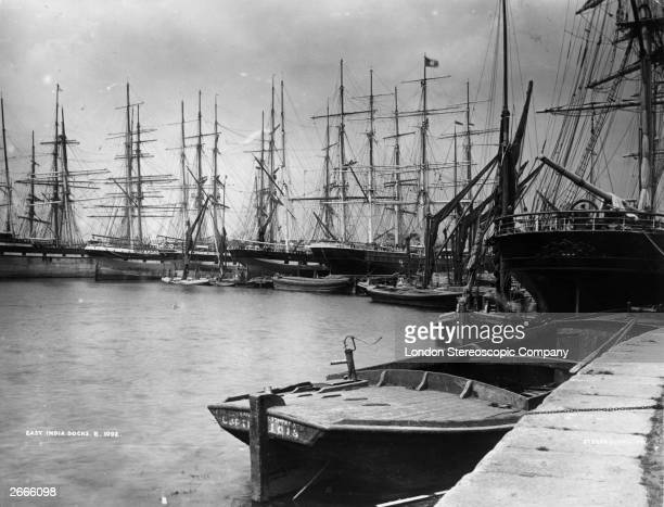 Tea clippers and sailing vessels in East India Docks London