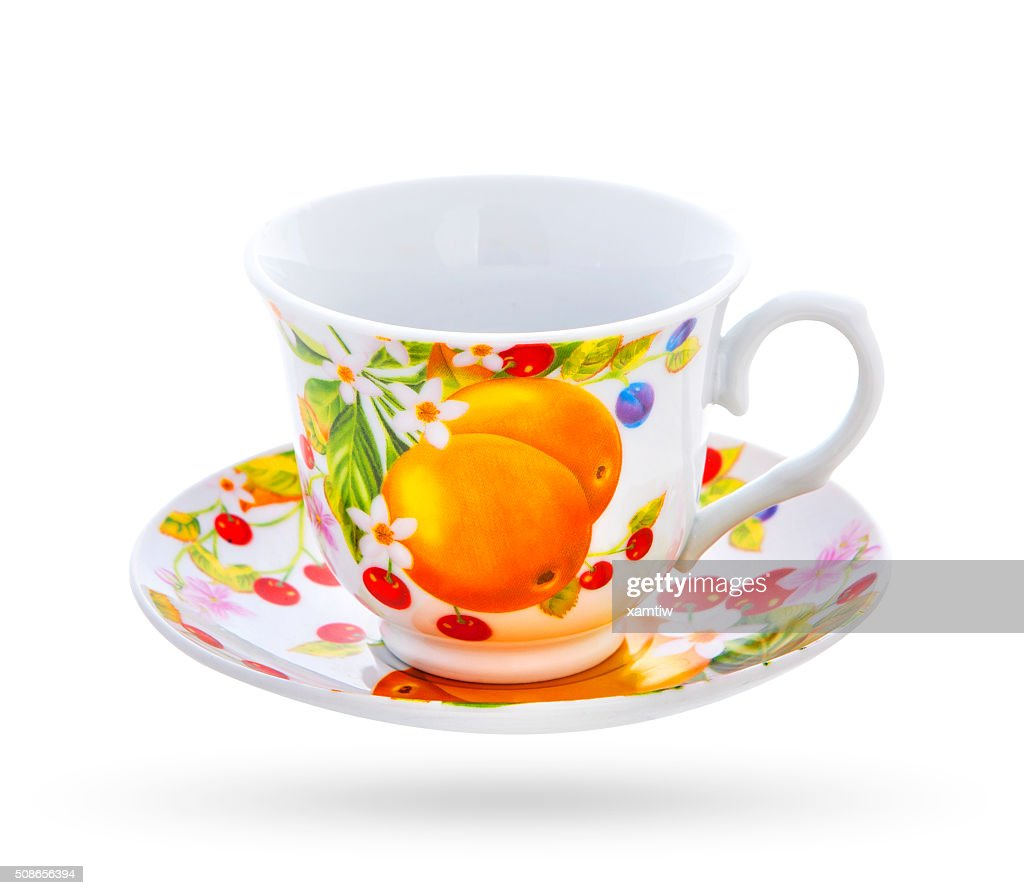 tea cup isolated on a white background : Stock Photo