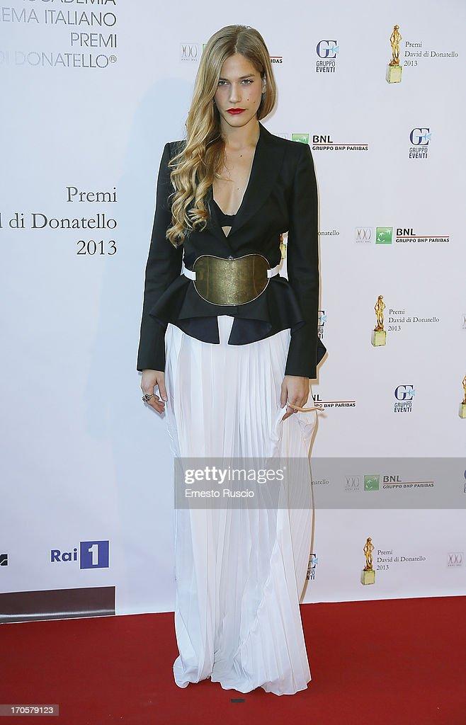 Tea Falco attends the David di Donatello Ceremony Awards at Dear on June 14, 2013 in Rome, Italy.