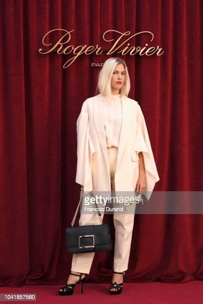 Tea Falco attends the Roger Vivier Presentation Spring/Summer 2019 during Paris Fashion Week on September 27 2018 in Paris France