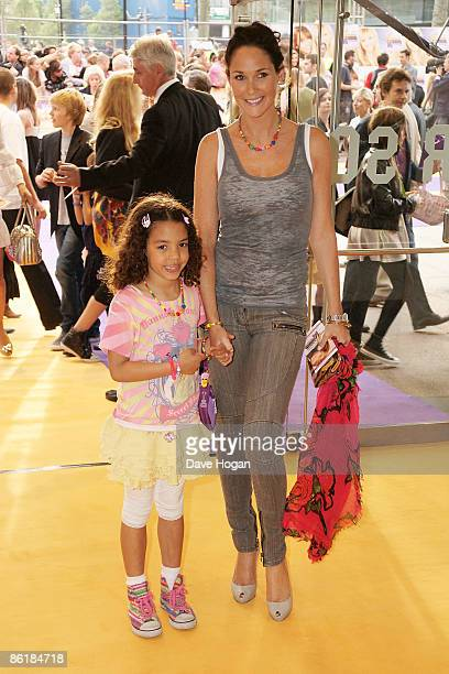 Tea Henry and Claire Merry attend the UK premiere of 'Hannah Montana The Movie' held at The Odeon West End Leicester Square on April 23 2009 in...