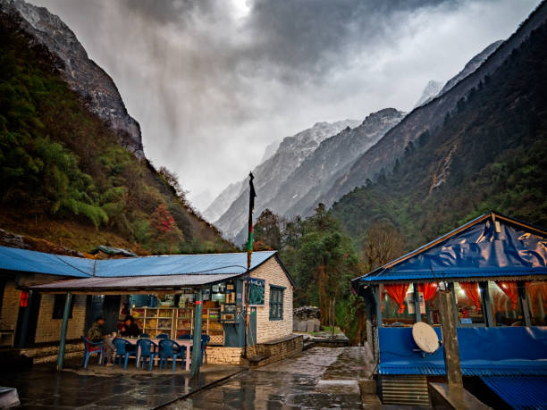 Tea house (guest houst) the Himalayas, Nepal - March 3, 2017