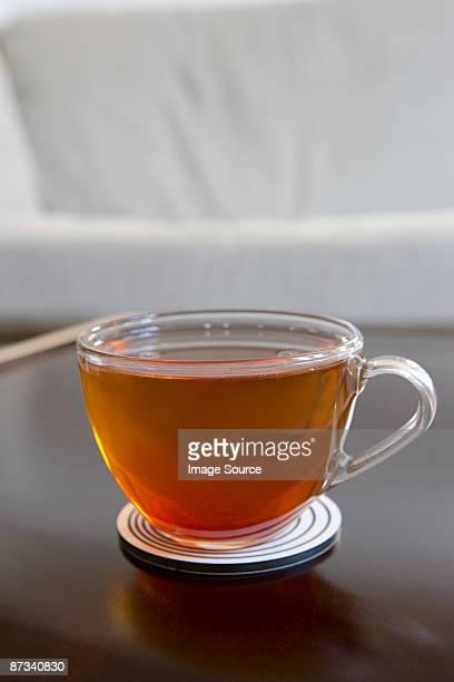 Tea in a transparent cup