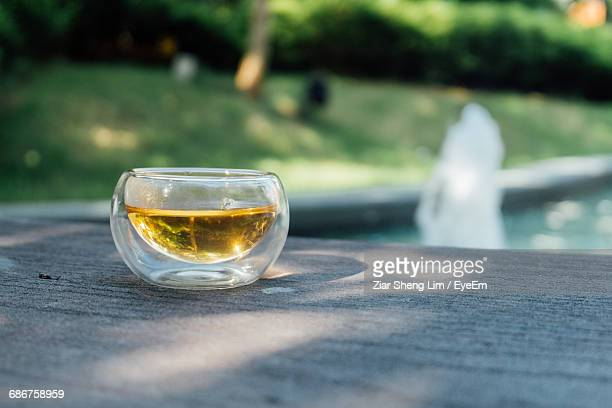 Tea In Cup On Wooden Table