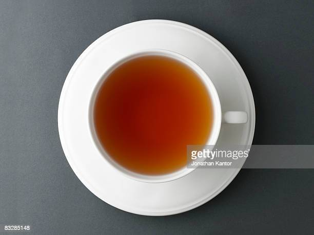 tea in cup - thee warme drank stockfoto's en -beelden