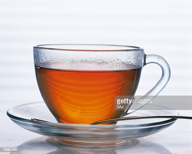 Tea in the Transparence Cup, Full Frame, Front Vew