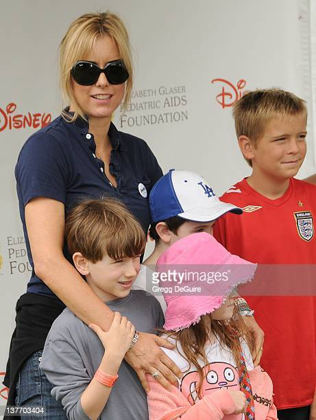 Tea Leoni and children arrive at the 21st Annual A Time For Heroes Celebrity Picnic sponsored by Disney to benefit The Elizabeth Glaser Pediatric...