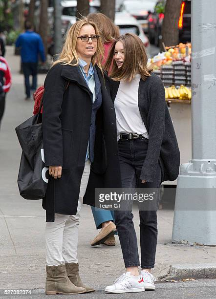 Tea Leoni and her daughter Madelaine Duchovny seen on May 2 2016 in New York City