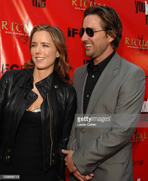 Tea Leoni and Luke Wilson during 'You Kill Me' Los Angeles Premiere Red Carpet at ArcLight Hollywood in Hollywood California United States