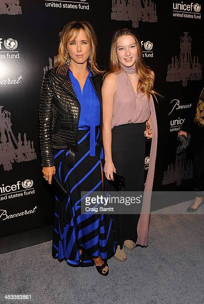 Tea Leoni and Madelaine Duchovny attend the 9th annual UNICEF Snowflake Ball at Cipriani Wall Street on December 3 2013 in New York City
