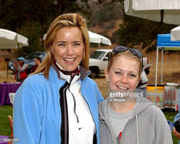 Tea Leoni and Melissa Joan Hart during Expedition Inspiration 'TakeAHike' Benefit for Breast Cancer Research at Paramount Ranch in Malibu California...