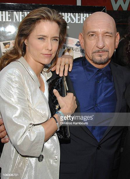Tea Leoni and Sir Ben Kingsley during 'You Kill Me' New York Screening Arrivals at IFC Center in New York City New York United States