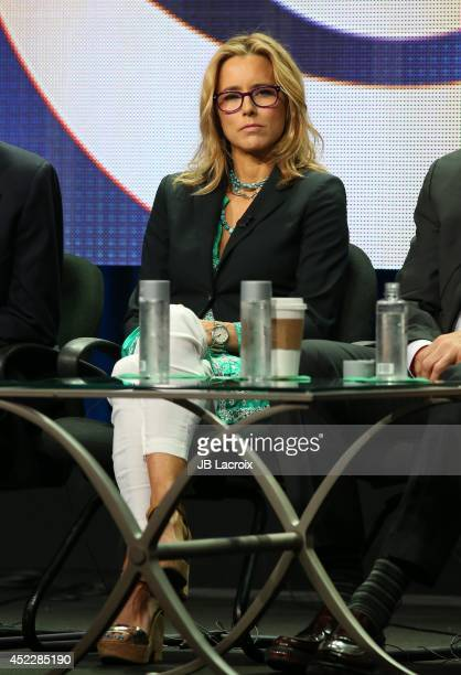 Tea Leoni attends the 2014 Summer Television Critics Association at The Beverly Hilton Hotel on July 17 2014 in Beverly Hills California