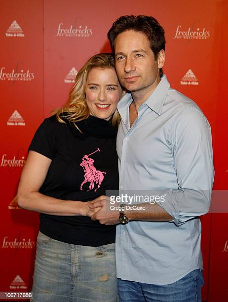 Tea Leoni David Duchovny during Smashbox Fashion Week Los Angeles Frederick's of Hollywood Fashion Show Fall 2003 Collection to benefit Expedition...