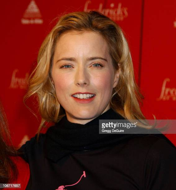 Tea Leoni during Smashbox Fashion Week Los Angeles Frederick's of Hollywood Fashion Show Fall 2003 Collection to benefit Expedition Inspiration...