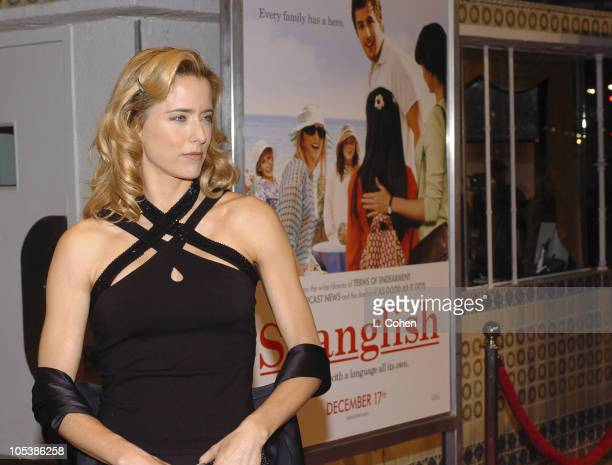 Tea Leoni during 'Spanglish' Los Angeles Premiere Red Carpet at Mann Village Theater in Los Angeles California United States
