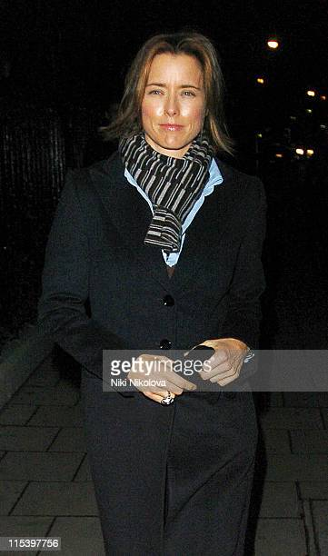 Tea Leoni during Tea Leoni Sighting in London December 6 2005 in London Great Britain