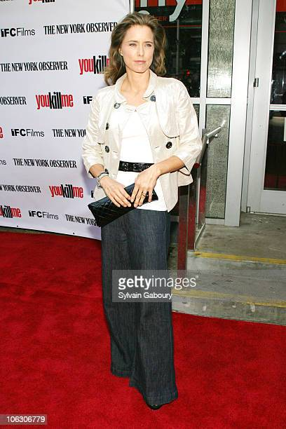 Tea Leoni during You Kill Me New York City Premiere Arrivals at IFC Center at 323 Sixth Avenue in New York City New York United States