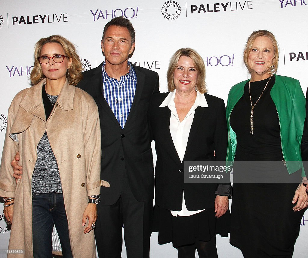 Tea Leoni, Tim Daly, Barbara Hall and Lori McCreary attend The Paley Center For Media Presents An Evening With 'Madame Secretary' at Paley Center For Media on April 27, 2015 in New York City.