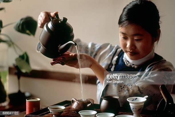Tea Making at Guyan Antique Tearoom