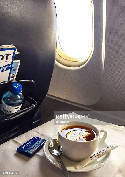 Tea on board of Aeroflot Airplane