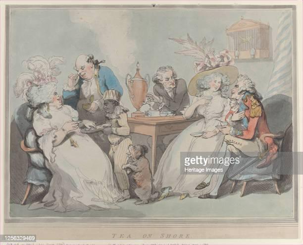 Tea on Shore, 1785-94. Artist Thomas Rowlandson.
