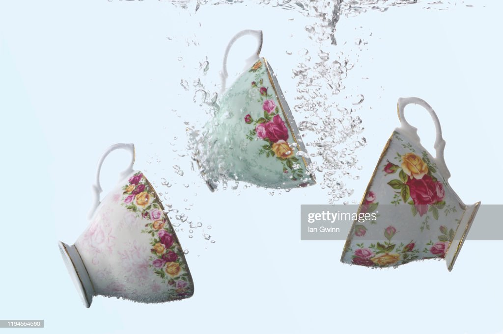 Tea Party in Water : Stock Photo