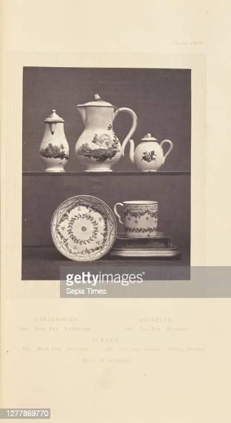 Tea pot, milk pots, cup, and saucer; William Chaffers ; London, England, Europe; 1871; Woodburytype; 11.6 x 9.2 cm .