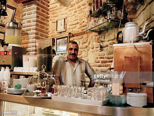 Tea seller in cafe, The Grand Bazaar