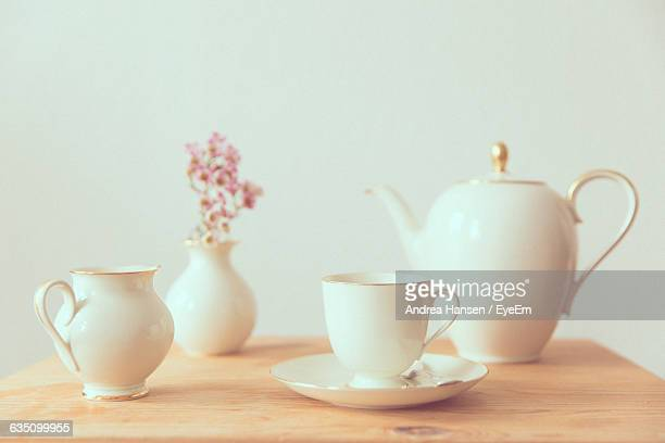 Tea Set On Table