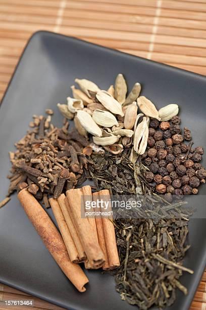 tea spices - garam masala stock photos and pictures
