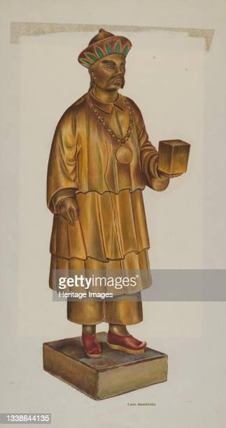 Tea Store Figure, circa 1937. Artist Chris Makrenos.