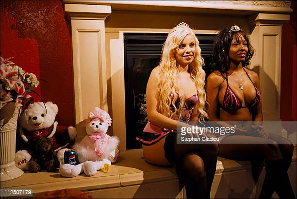 Tea time at the Moonlite Bunny Ranch, a legal brothel owned by Dennis Hof, in Lyon County, one of the fews counties in the USA which permits...